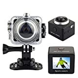 MARVUE S8 360 Degree Panoramic Camera Action Sports Camera WIFI 12MP 4K FHD 1080P Waterproof Camcorder DV (S8-BLACK) Action Cameras
