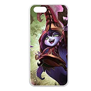Lulu-001 League of Legends LoL case cover for Apple iPhone 5/5S - Rubber White