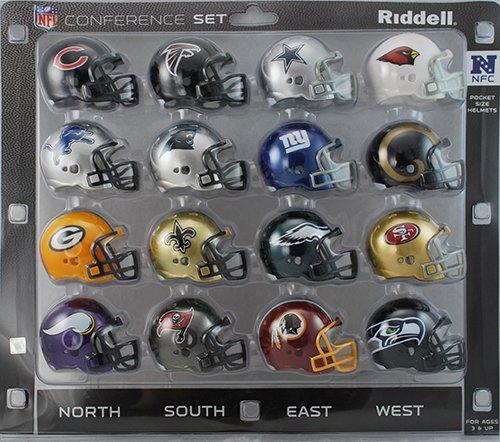 NFL NFC Conference Pocket Size Helmet Set - Pocket Nfc