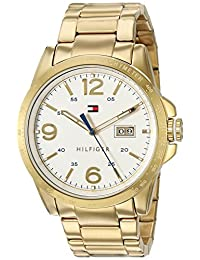 Tommy Hilfiger Men's Quartz Tone and Gold Plated Casual Watch(Model: 1791256)