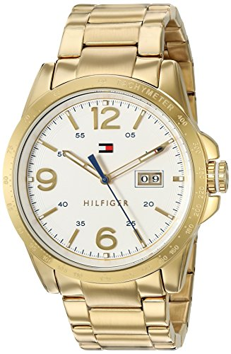 Tommy Hilfiger Men's Quartz Tone and Gold Plated Casual W...