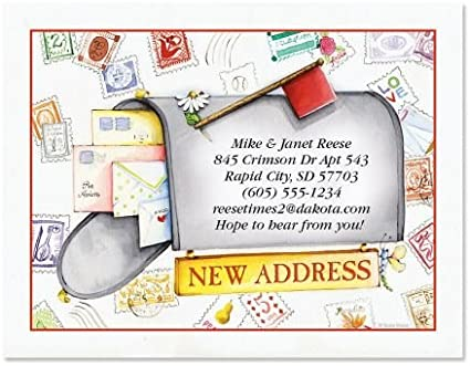 New Address Cards New Home Postcards Kids House Pack of 20 Cards /& Envelopes