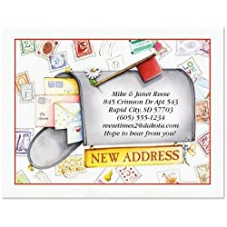 "Keep in Touch New Address Postcards - Set of 24 5-1/4"" x 4"" post cards"