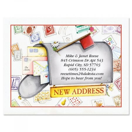 Keep in Touch New Address Postcards - Set of 24 5-1/4