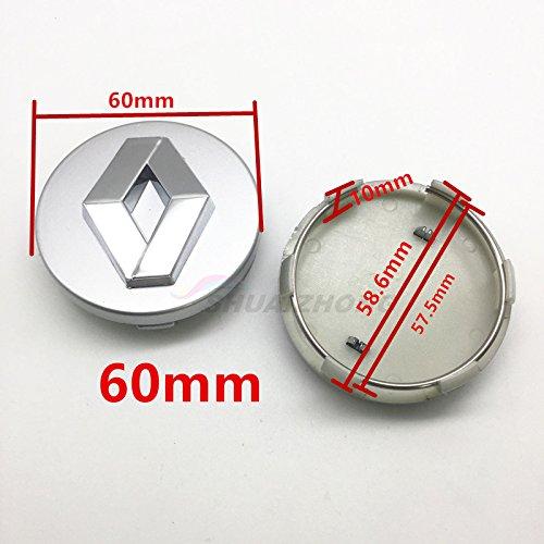 4pcs 54mm 57mm 60mm Renault car Emblem Wheel Center Hub Caps Dust-Proof Badge Covers