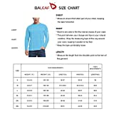 BALEAF Men's Long Sleeve Logo Fishing Shirts UPF