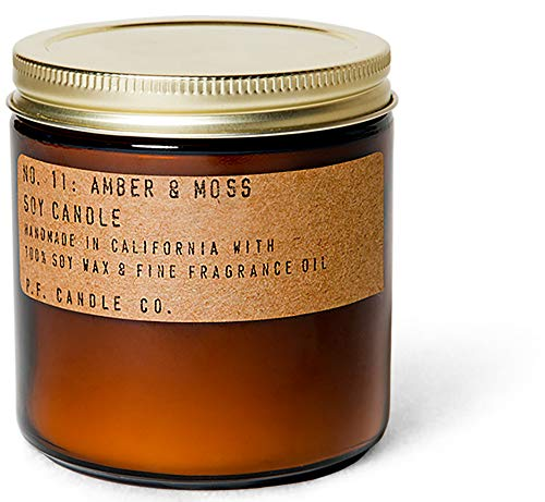 Pf Candle Co, Candle Amber and Moss 12.5 Ounce