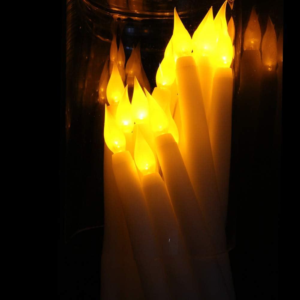 LACGO decoraci/ón de fiesta de cumplea/ños centros de mesa de cena funciona con pilas paquete de 6 bodas 28 cm Vela LED parpadeante sin llama