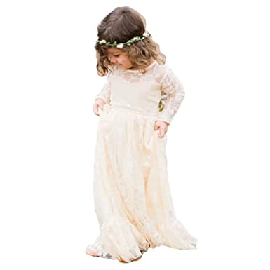 bf29dc2a5bbcb CDE Lace Boho A-line Flower Girl Dress Holy First Communion Gowns