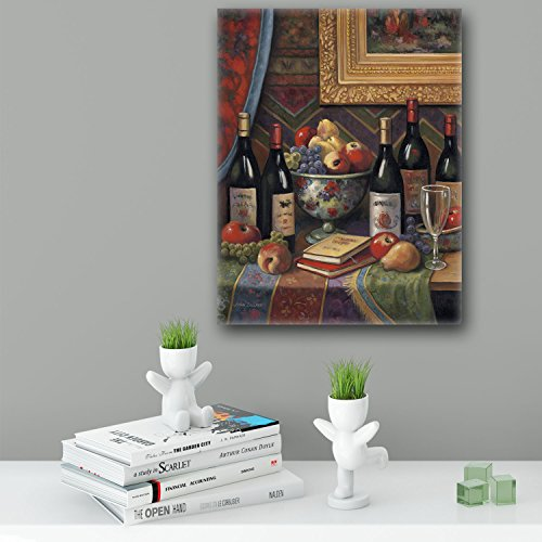 ImagesPrinted Wine And Floral 2 Ready to Hang Wall Decor mounted on Floater Frame by John Zaccheo