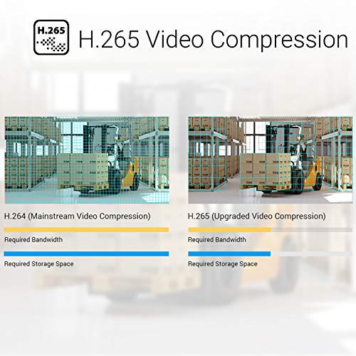 EZVIZ Floodlight Security Camera WiFi, H.265, PIR Motion Detection, 1080P Live View, Siren Alarm, Starlight Color Night Vision, Two-Way Audio, Weatherproof   LC1C