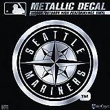 "Seattle Mariners 6"" Silver Metallic DECAL Die Cut Mirrored Style Vinyl Auto Baseball"