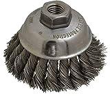 Anderson - 3-1/2'' Diam, 5/8-11 Threaded Arbor, Steel Fill Cup Brush - 0.02 Wire Diam, 1-1/4'' Trim Length, 9,000 Max RPM (8 Pack)