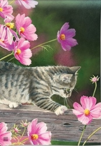 Mailwraps Cat - BreezeArt Curious Kitty Garden Flag 31341