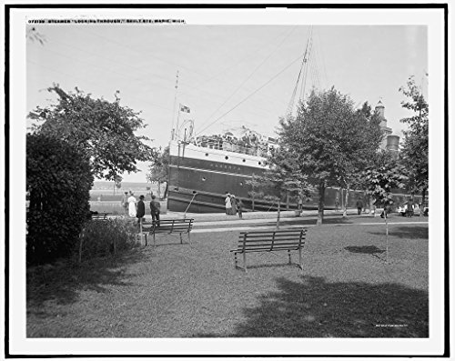 (Vintography 8 x 10 Ready to Frame Pro Photo of Gatun Lock Chamber Panama Canal 1910 Detriot Publishing 81a)
