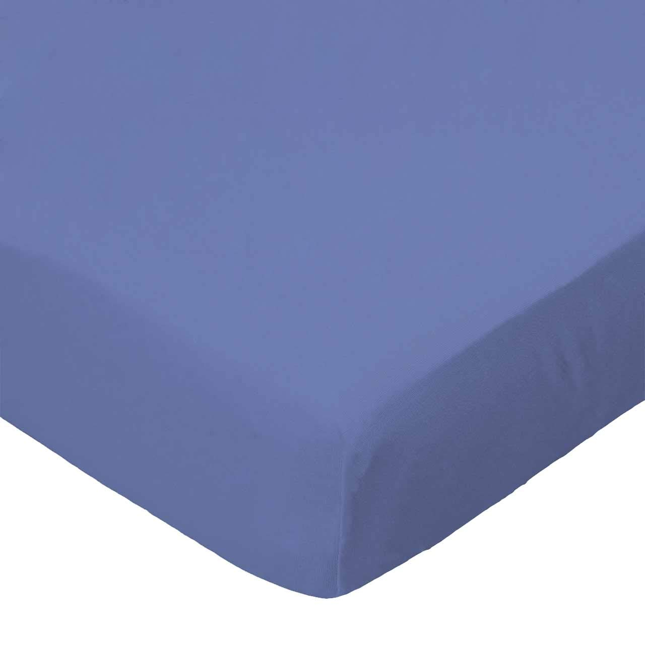 SheetWorld Fitted Cradle Sheet - Flannel - Denim Blue - Made In USA by sheetworld   B004O8ECYO