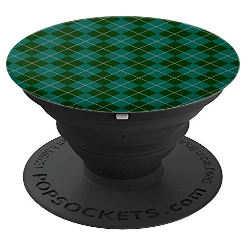 Plaided Scotch Green Checked Kilt Collapsible Pop Out Mount - PopSockets Grip and Stand for Phones and Tablets ()