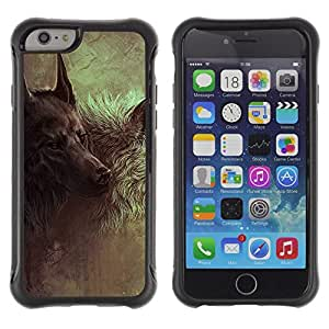 iKiki Tech / Estuche rígido - Wolf Hound Dog Majestic Painting Art - Apple iPhone 6
