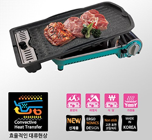 LivingOn Wide Stone Grill pan Roast Pan Special 4 Layer stone Coating Resort Camping Dining room Home by Kitchen Art (Image #1)