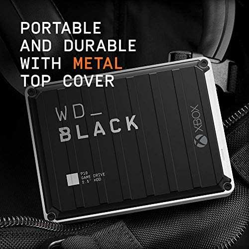 WD_Black 5TB P10 Game Drive for Xbox One, Portable External Hard Drive HDD with 1-Month Xbox Game Pass – WDBA5G0050BBK-WESN 51LwRMBlYqL