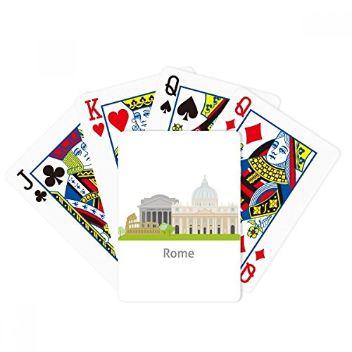 Italy Rome Landscape National Landmark Poker Playing Cards Tabletop Game Gift by beatChong