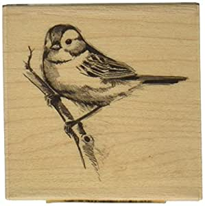 "Inkadinkado Mounted Rubber Stamp LL-Sparrow 2.25""X2.25"""