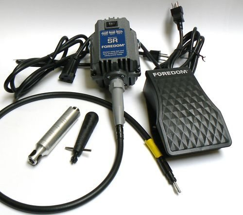 FOREDOM SR MOTOR 1/6HP FLEX SHAFT KIT FLEXIBLE SHAFT + 30 HANDPIECE & FCT COTROL by Foredom