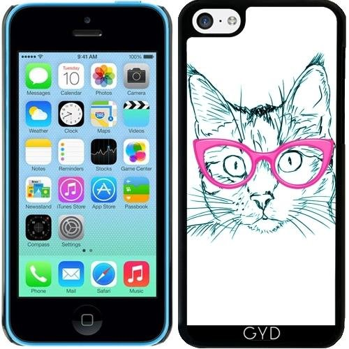 Coque pour Iphone 5c - Cute Sweet Hipster Chat by WonderfulDreamPicture