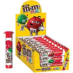 M&M'S Valentine's Day Milk Chocolate MINIS Size Candy 1.77-Ounce Tube 24-Count Box