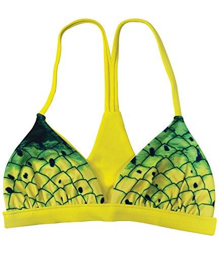 Pelagic Women's Rio Reversible Bikini Top   Dorado Print Green