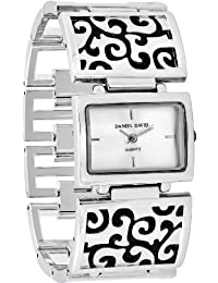 Women's Stylish Design Silver-tone Self-Adjustable Links Watch