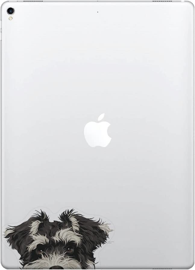 FINCIBO 5 x 5 inch Schnauzer Puppy Dog Removable Vinyl Decal Stickers for iPad MacBook Laptop (Or Any Flat Surface)