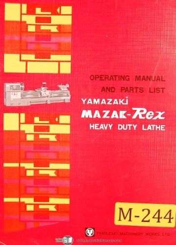 Mazak Rex Yamazaki, 24 and 30 Lathe, Operations and Parts List -