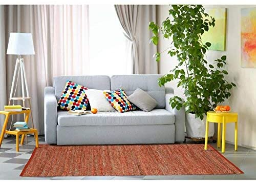 Earth First Jeans Rug, 8-Feet by 10-Feet, Orange