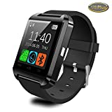 Aberobay Latest Smart Bluetooth 4.0 U8 Plus Wristwatch for Sports Pedometer, Sleep Monitoring, Answering Phones, Remote Camera, Intelligent Anti-lost and Other Functions Ranging Smart Watch -Black