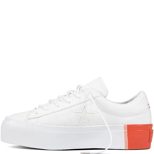 673e5b400eef Converse Women s Lifestyle One Star Platform Ox Textile Fitness Shoes   Amazon.co.uk  Shoes   Bags