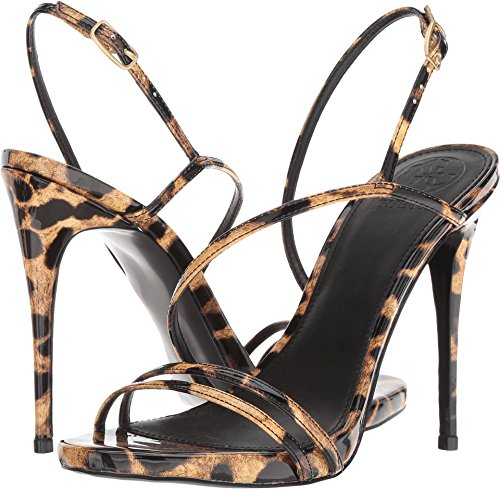 Guess Women's Tilda Brown Multi/Summer Leopard Patent 8.5 M US (Sandals Guess Ankle Strap)