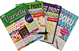 Brain Games Puzzle Books: 240 Variety Brain Teaser Puzzles For Young Adults to Seniors