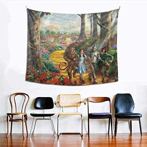 Delicious Lollipop T-he Wi-zard O-f O-z Tapestry Wall Hanging Tapestry for Living Room Bedroom Dorm Home Decor 6051inch,Black,One Size
