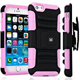 iPhone 6S Plus Case / iPhone 6 Plus Case - KAYSCASE ArmorHolster 3 Piece Heavy Duty Kickstand Case with Holster for Apple iPhone 6S 5.5 inch 2015 Version / iPhone 6 5.5inch 2014 Version (Pink)