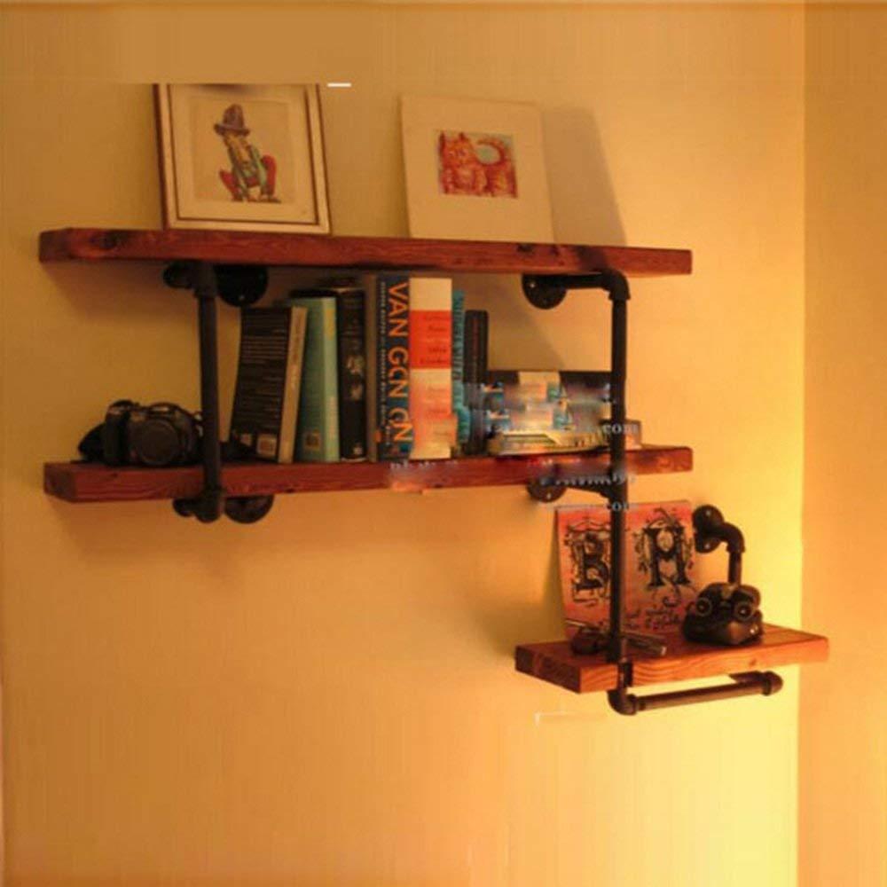 YUEQISONG Bookshelf Water Pipe Shelves for Family Home Living Room Book Bar