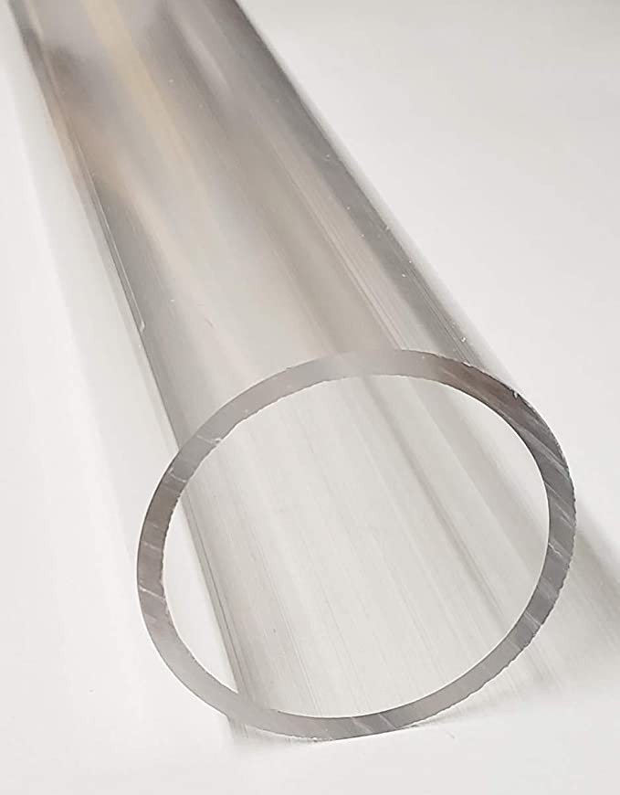 """Details about  /2/"""" ID X 2 1//4/"""" OD  ACRYLIC PLEXIGLASS TUBING PIPE CLEAR.....PRICED PER INCH"""