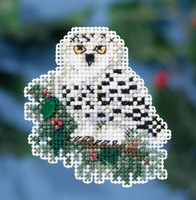 Mill Hill Treasures - Snowy Owlet Beaded Counted Cross Stitch Christmas Ornament Kit Mill Hill 2016 Winter Holiday MH181633