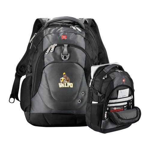 Valparaiso Wenger Swiss Army Tech Charcoal Compu Backpack 'Official Logo' by CollegeFanGear