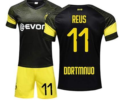 new concept 3fa00 5e854 LISIMKE Mens Dortmund Reus Away Soccer Soccer Jersey 18-19#11 Football  Jersey