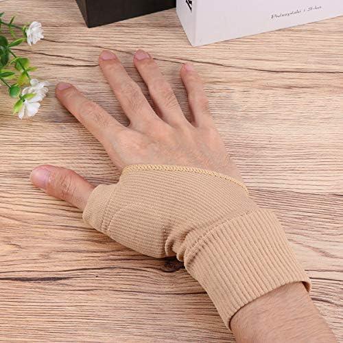 Supvox 1 Paar Handschiene Daumenschiene Daumenbandage Fingerscheibne Finger Training Board für Glätten gebrochener Finger Handschlaufe (Hautfarbe)