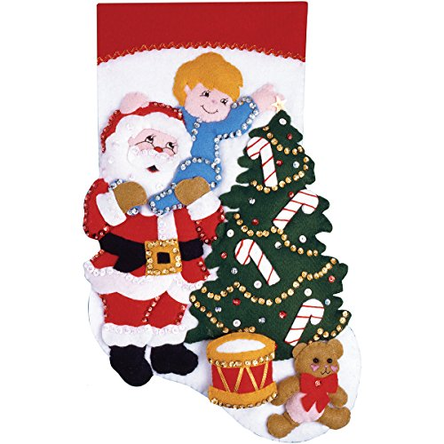 Tobin Reach for The Star Stocking Felt Applique Kit, 16-Inch