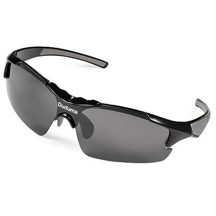 9b08f4c0048 Duduma Polarized Casual Sports Sunglasses for Baseball Cycling Fishing Golf  Tr46 Unbreakable Multicolor Frame (Black