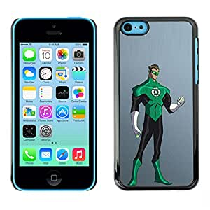 Shell-Star Arte & diseño plástico duro Fundas Cover Cubre Hard Case Cover para Apple iPhone 5C ( Superhero Green Black Robin Costume Art )