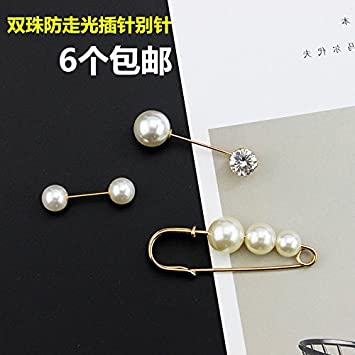 b531813d28e Amazon.com : Chinese red high-end fashion imitation pearl brooch lady  sweater coat big corsage pin accessories simple wild : Beauty